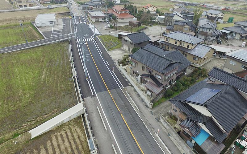 主要地方道富山上市線道路総合交付金(交安)舗装工工事